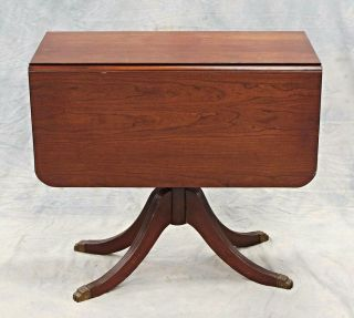 Duncan Phyfe Mahogany Drop Leaf Table Dining Console End Sofa Server Bar Vintage