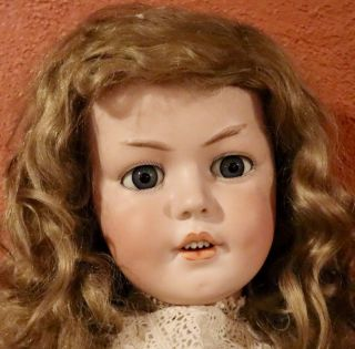 """Rare 32 """" Antique C1890 Simon Halbig 1279 Extremely Large Doll"""