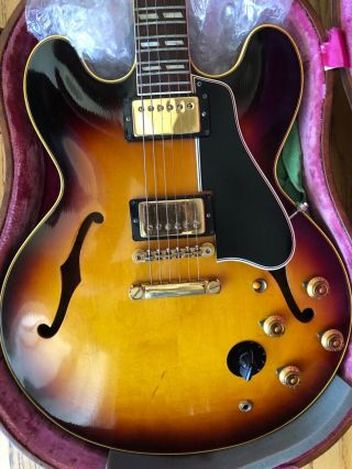 Gibson 1959 Es - 345 Stereo Sunburst With P.  A.  F 100 Vintage