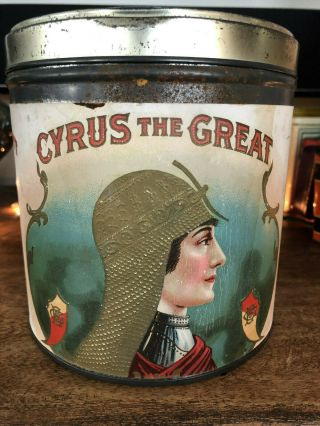 Vintage Rare Cigar Tobacco Advertising Tin Canister – Cyrus The Great