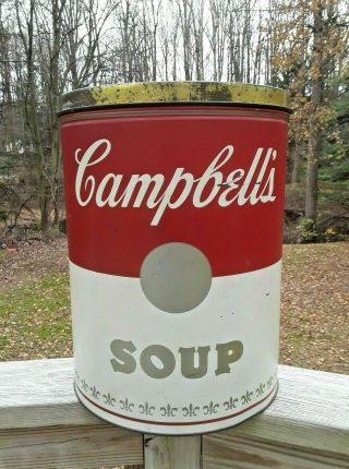 Vintage After Andy Warhol Plasticonvertible Campbell