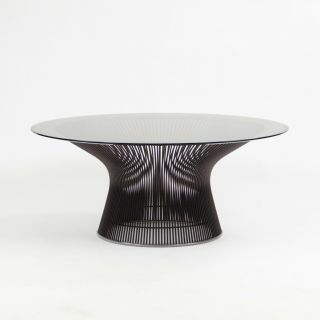 "Nos Warren Platner For Knoll 36 "" Coffee Table Bronze Smoked Glass 2x Available"