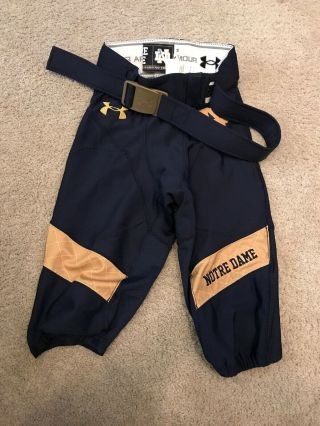 2014 Team Issued Notre Dame Football Indianapolis Shamrock Series Game Pants