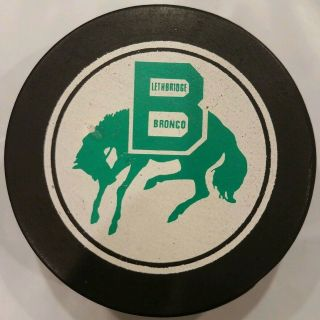 Lethbridge Bronco Whl Vintage Viceroy Mfg.  Rare Canada Official Game Puck