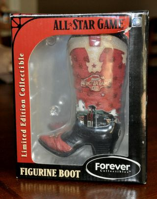 2004 Houston Mlb All Star Baseball Game Limited Edition Figurine Cowboy Boot
