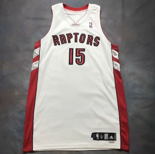 Authentic Vince Carter Raptors Team Issued Pro Cut Game Jersey
