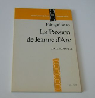 The Passion Of Joan Of Arc Film Analysis 1973 Rare Book On The Film Dvd Movie