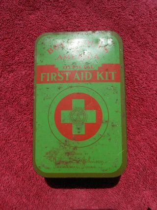 Vintage Late Wwii Era Bsa Boy Scouts Of America Official First Aid Kit - Box Only