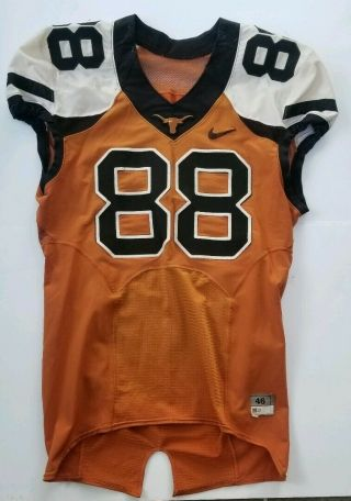 Nike Team Issued Authentic Texas Longhorns Ut Football Practice Jersey 88