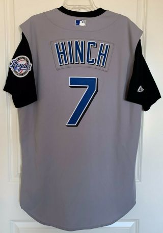 Kansas City Royals A.  J.  Hinch 7 Majestic Team - Issued Gray Road Jersey Size 46
