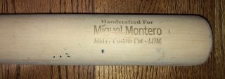 2016 Chicago Cubs Miguel Montero Game Bat 2016 World Series Champions