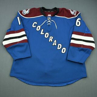 2013 - 14 Cory Sarich Colorado Avalanche Game Worn Hockey Jersey Meigray