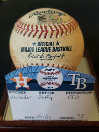 Justin Verlander Houston Astros 220 Win Game Baseball 8/27/2019 Cy Young
