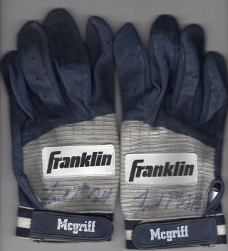 Fred Mcgriff Game Franklin Autographed Batting Gloves (pre 1997)