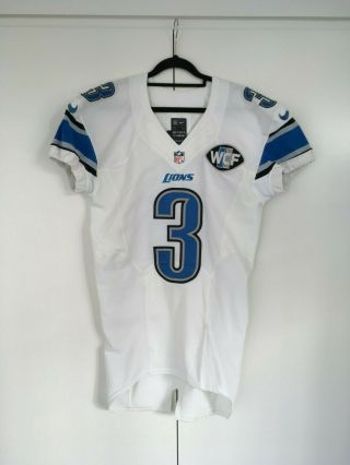 Detroit Lions Chisum 3 2016 Game Issued Football Jersey Lelands Loa