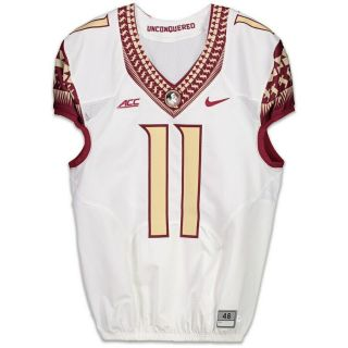 Florida State Seminoles Fsu Game Issued Jersey 11 Rare Gold Numbers Size 46