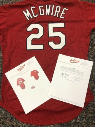 1997 Mark Mcgwire St.  Louis Cardinals Game Worn Bp Mesh Pullover Jersey