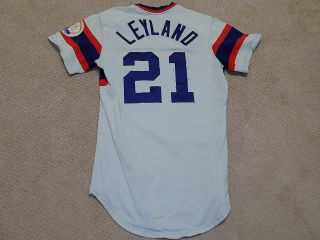 Jim Leyland Game Worn Signed Jersey Chicago White Sox Pirates Tigers