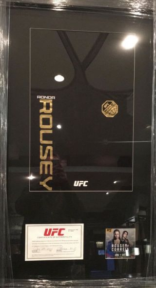 Ronda Rousey Fight Worn Top From Her Final Ko Win Vs Beth Correia With Ufc Cert