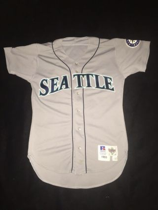 Vintage 1993 Seattle Mairners Jersey Issued Russell Authentic Blank Vtg 40 Rare