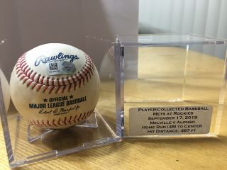 Pete Alonso 48th Career Home Run Baseball Actual Home Run From Rookie Season