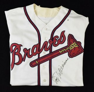 1990 Jimmy Williams Signed Atlanta Braves Game Professional Home Jersey
