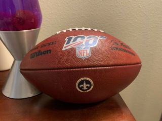 Game Issued Orleans Saints Wilson Nfl Leather Football The Duke 2019 Brees