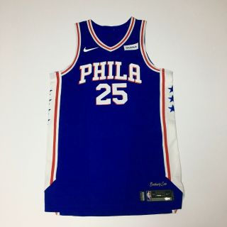 Ben Simmons Philadelphia 76ers Game Issued Jersey 2017 - 2018 Early Rookie Season