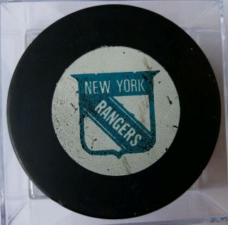 York Rangers Vintage Nhl Approved Viceroy Mfg Canada Official Game Puck