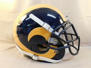 2011 Game Issued Justin King St Louis Rams Throwback Nfl Helmet W/team Loa