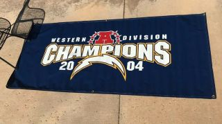 Game San Diego Chargers Qualcomm Stadium Banners 2004 Division Champions La