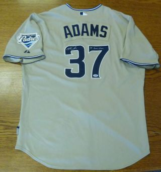 Mike Adams Game 2008 Signed Padres Home Jersey Psa