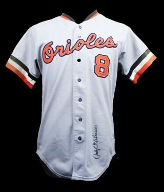 1974 Andy Etchebarren Baltimore Orioles Game Worn Road Jersey (mears A9)