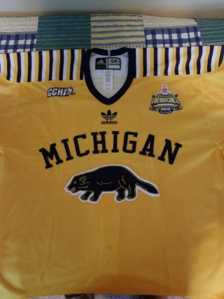 Michigan Wolverines Hockey Game Worn/used Big Chill Hockey Jersey