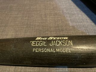 Vintage 1983 Reggie Jackson Game Bat - Adirondack With Pine Tar,  Ball Marks
