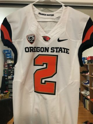 Nike Oregon State Beavers Game Worn Football Jersey 2 Flywire Nelson Steelers
