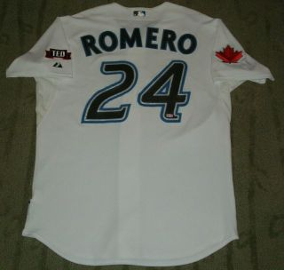 Toronto Blue Jays Ricky Romero Game Worn 2009 Rookie Jersey Mlb Hologram