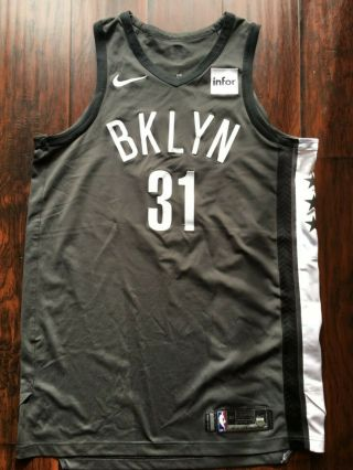 Jarrett Allen 2017 - 18 Brooklyn Nets Statement Game Jersey Nike Steiner