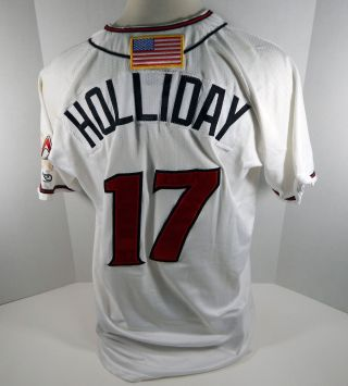 2018 Albuquerque Isotopes Matt Holliday 17 Game White Jersey
