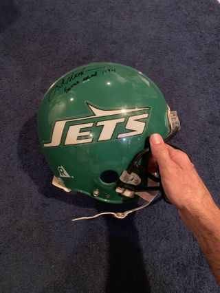 Rare 1994 Art Monk Game 1994 York Jets Football Helmet Mears Jsa Pic