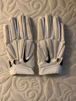 Penn State Nike Team Issued Superbad 3.  0 Football Gloves Size Xxl