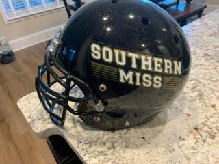 Southern Mississippi Authentic Game Worn Helmet Usm Football Brett Favre