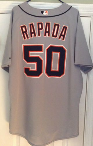 2008 Detroit Tigers Clay Rapada Spring Training Team Issued Jersey