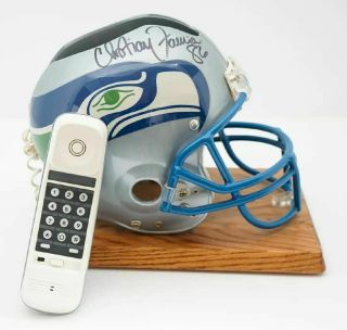1995 Seattle Seahawks Nfl Draft Helmet Phone Signed By Christian Fauria