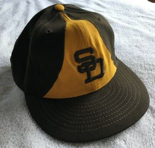 Circa 1973 Game Worn Bill Greif Padres Era Hat Cap