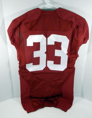 2009 - 15 Alabama Crimson Tide 33 Game Red Jersey Bama00182