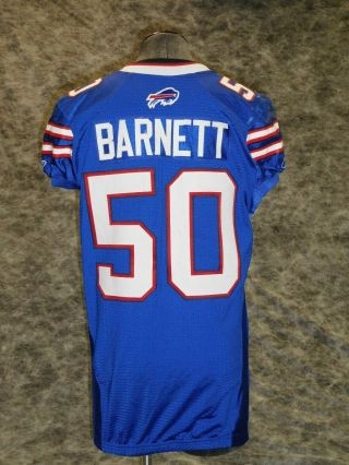 Buffalo Bills 2011 Game / Worn Jersey.  Nick Barnett.  Great Wear Team Loa
