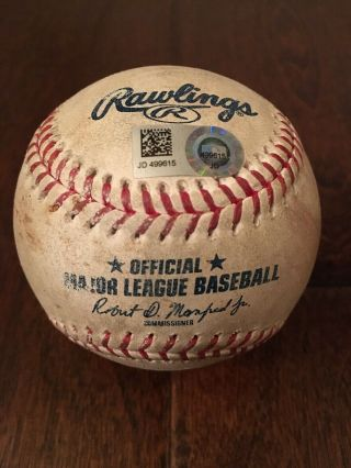 4/12/19 Rockies@giants Seung Hwan Oh Strikeout Pillar Game Ball