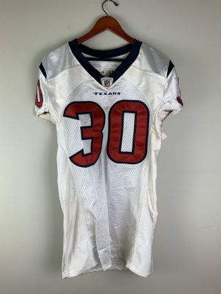 Houston Texans Game Worn Football Jersey 30 Allen