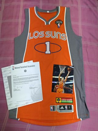Goran Dragic Phoenix Suns Latin Night Game Worn Photomatch Jersey Meigray
